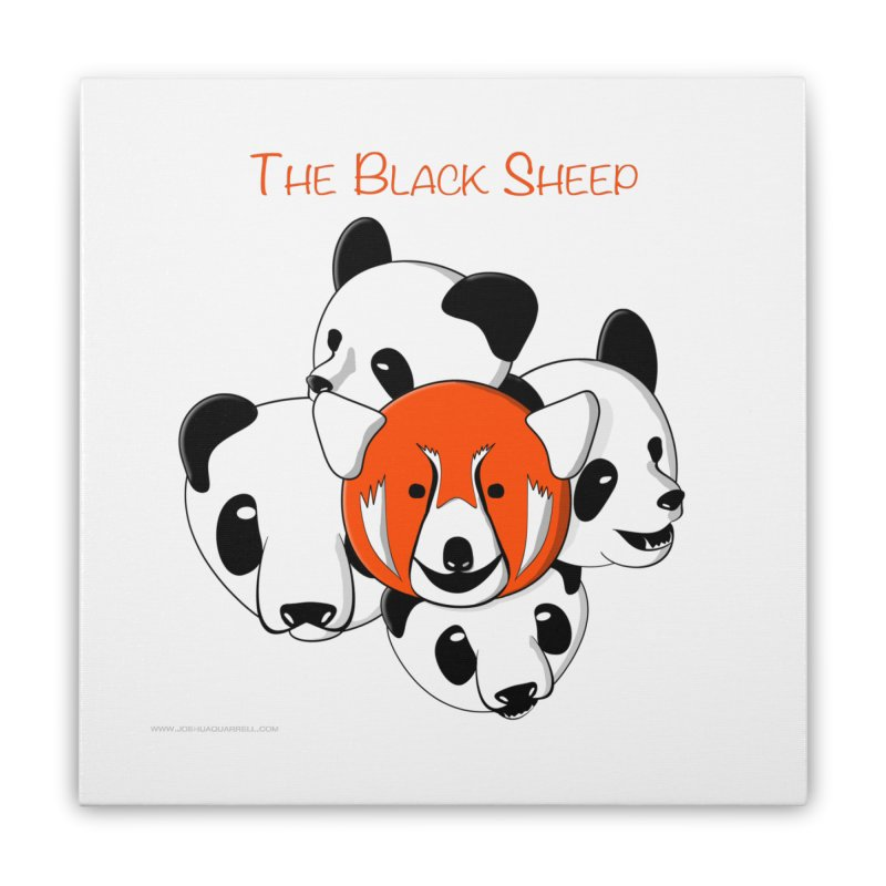 The Black Sheep Home Stretched Canvas by Every Drop's An Idea's Artist Shop