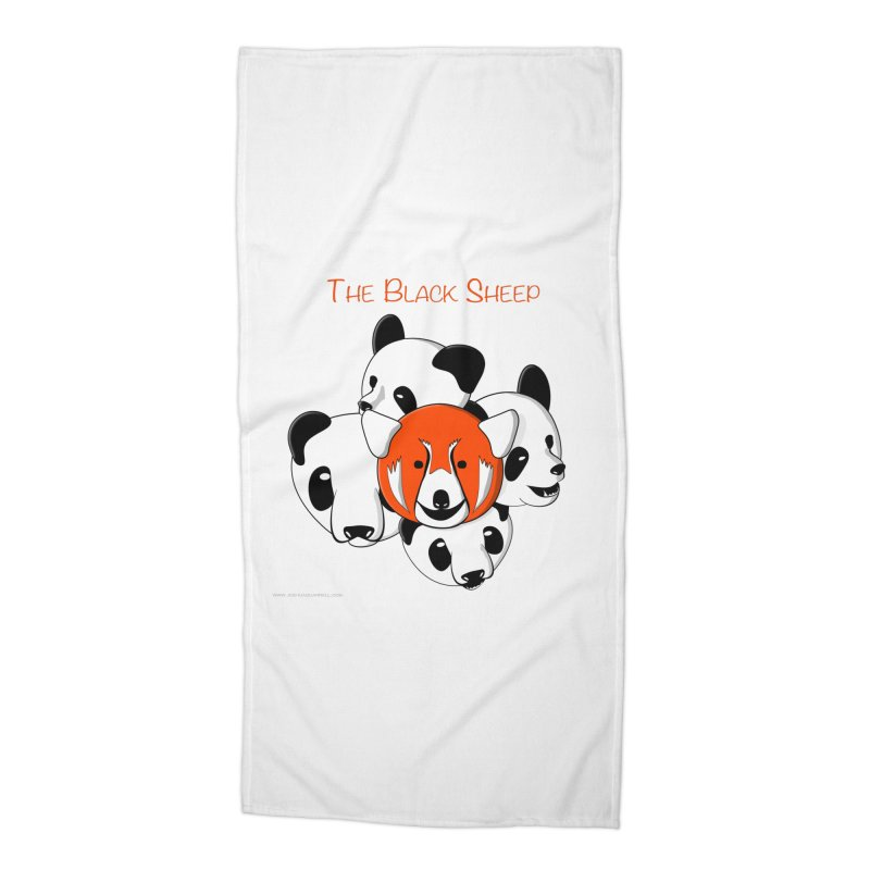The Black Sheep Accessories Beach Towel by Every Drop's An Idea's Artist Shop