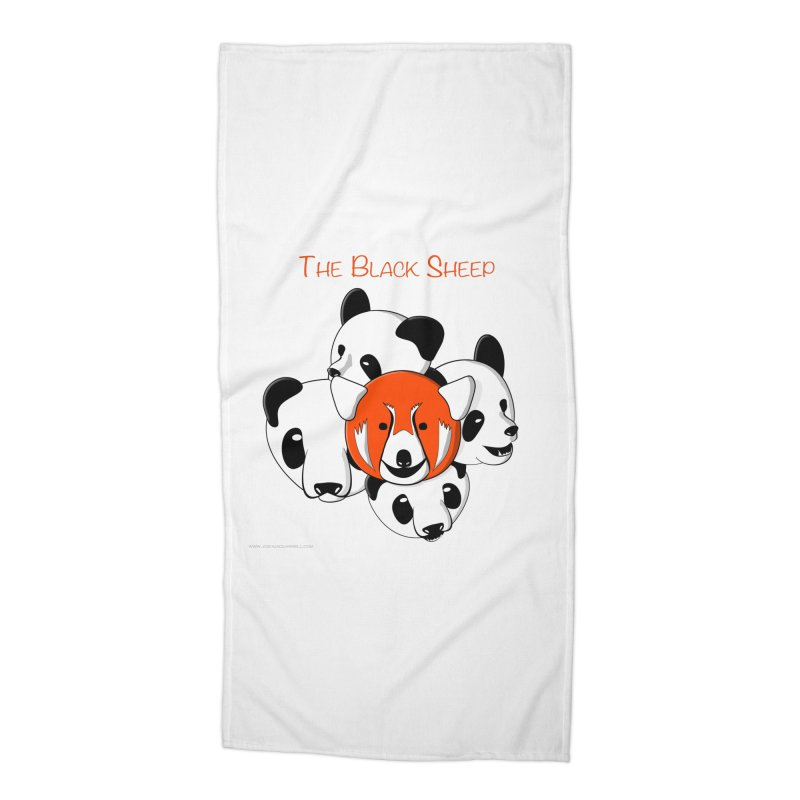 The Black Sheep Accessories Beach Towel by Every Drop's An Idea's Artist Shop