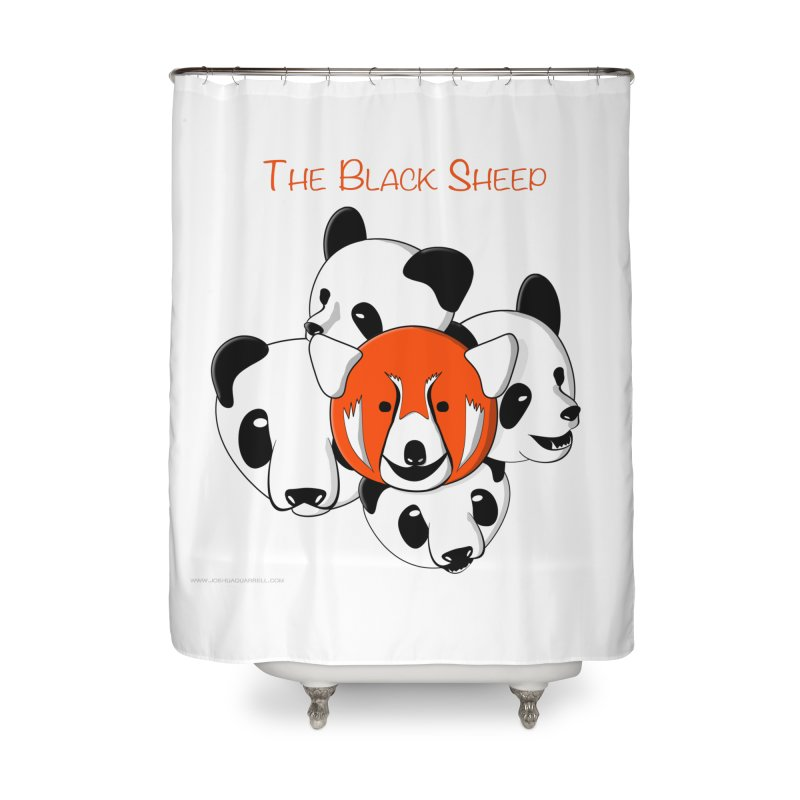 The Black Sheep Home Shower Curtain by Every Drop's An Idea's Artist Shop