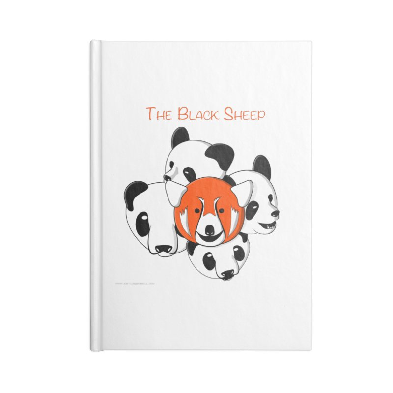 The Black Sheep Accessories Lined Journal Notebook by Every Drop's An Idea's Artist Shop