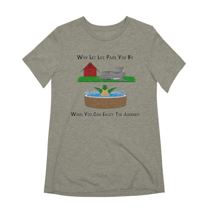 It's About The Journey Women's Extra Soft T-Shirt by Every Drop's An Idea's Artist Shop