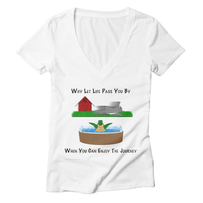 It's About The Journey Women's Deep V-Neck V-Neck by Every Drop's An Idea's Artist Shop