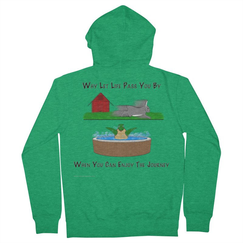 It's About The Journey Women's Zip-Up Hoody by Every Drop's An Idea's Artist Shop
