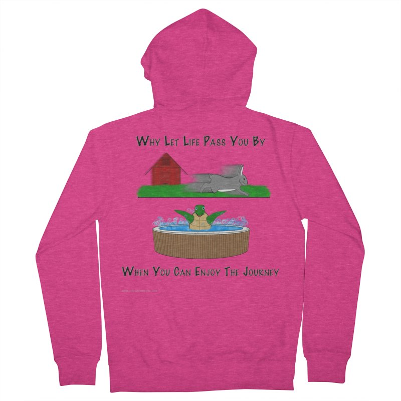 It's About The Journey Women's French Terry Zip-Up Hoody by Every Drop's An Idea's Artist Shop