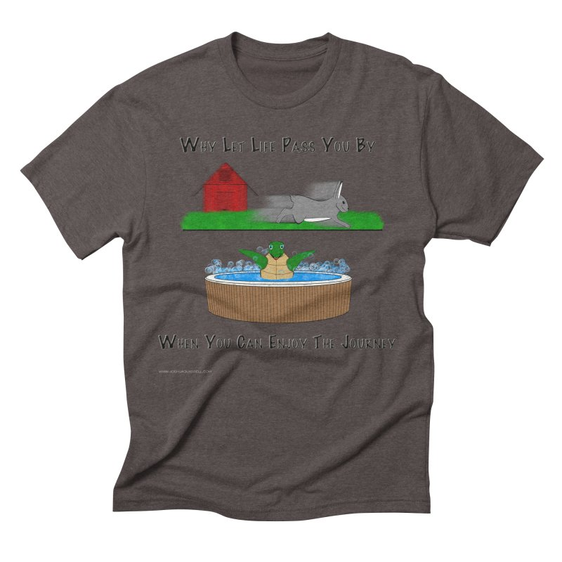 It's About The Journey Men's Triblend T-Shirt by Every Drop's An Idea's Artist Shop