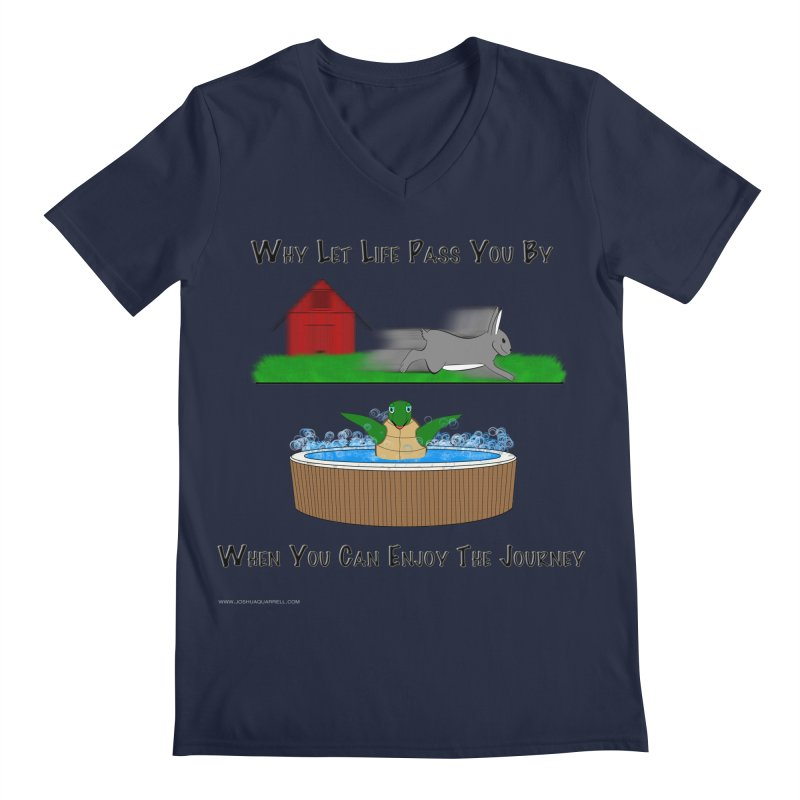 It's About The Journey Men's Regular V-Neck by Every Drop's An Idea's Artist Shop