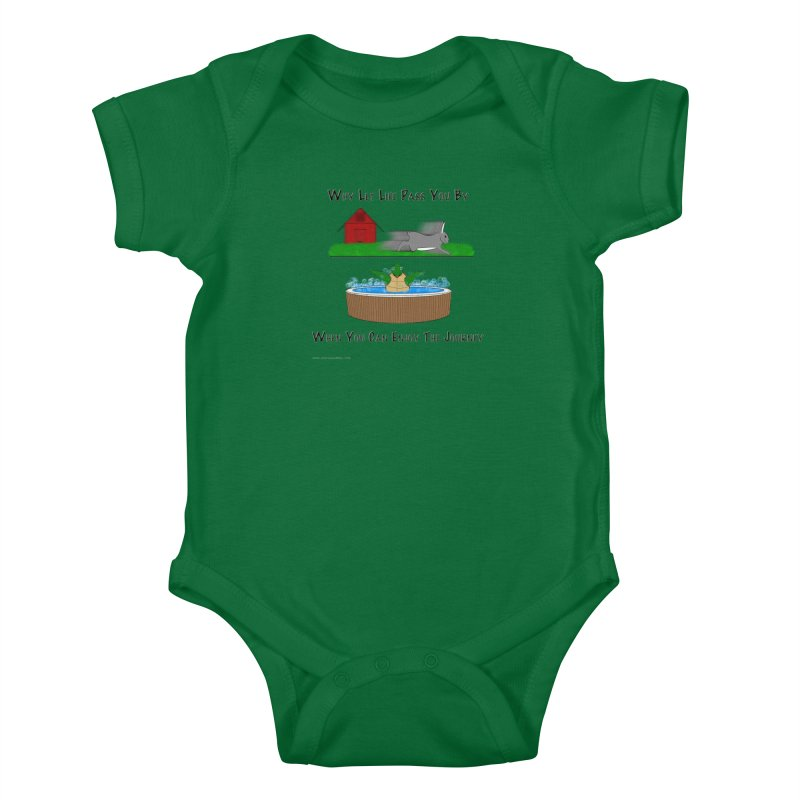 It's About The Journey Kids Baby Bodysuit by Every Drop's An Idea's Artist Shop