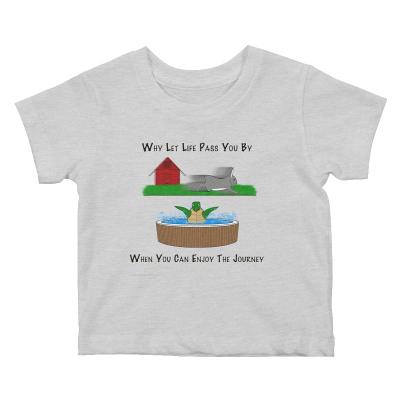 It's About The Journey Kids Baby T-Shirt by Every Drop's An Idea's Artist Shop