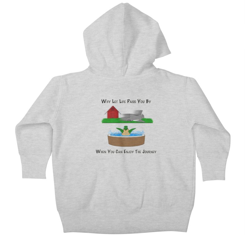 It's About The Journey Kids Baby Zip-Up Hoody by Every Drop's An Idea's Artist Shop