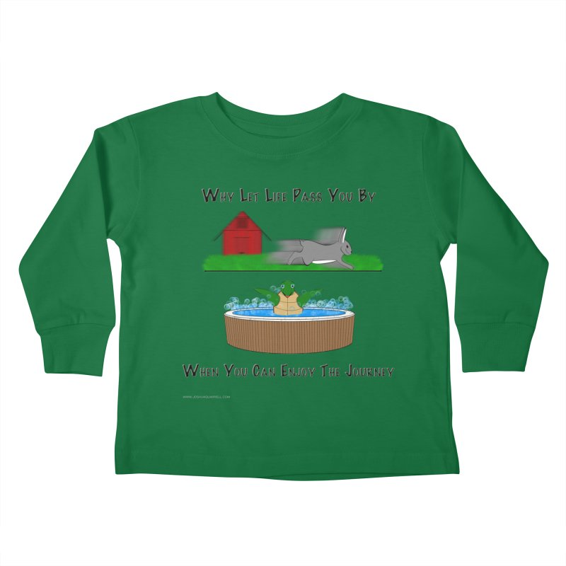 It's About The Journey Kids Toddler Longsleeve T-Shirt by Every Drop's An Idea's Artist Shop