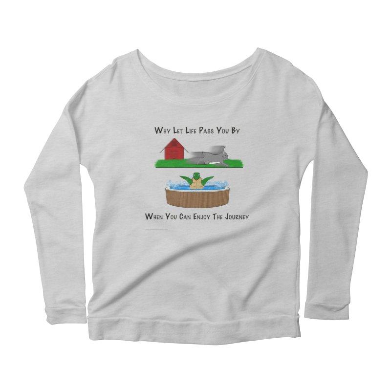 It's About The Journey Women's Scoop Neck Longsleeve T-Shirt by Every Drop's An Idea's Artist Shop