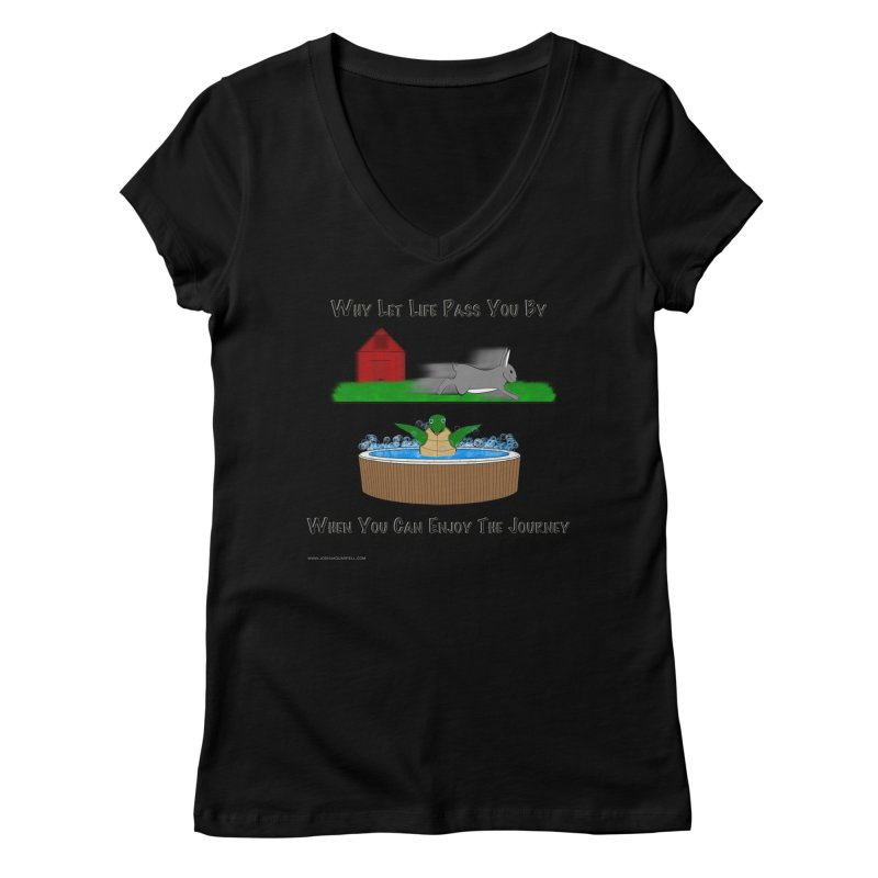It's About The Journey Women's V-Neck by Every Drop's An Idea's Artist Shop