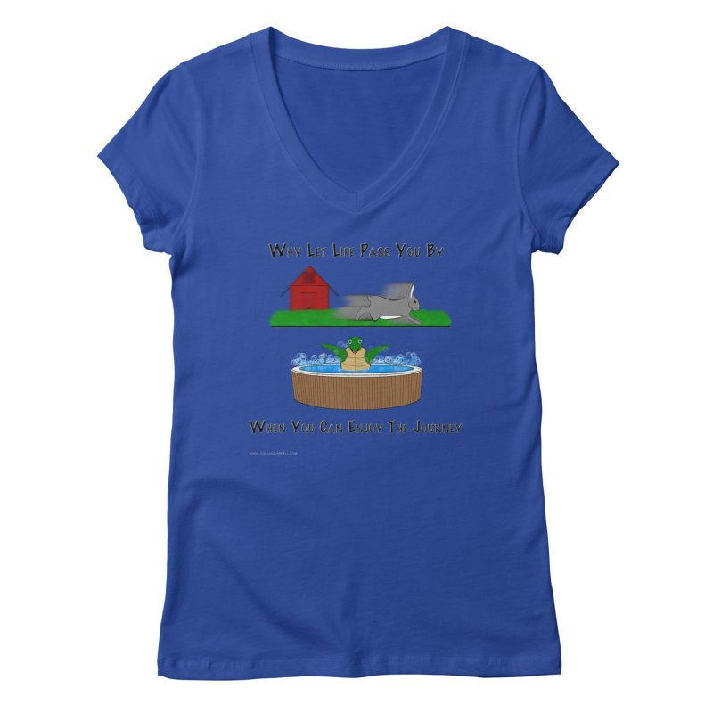 It's About The Journey Women's Regular V-Neck by Every Drop's An Idea's Artist Shop
