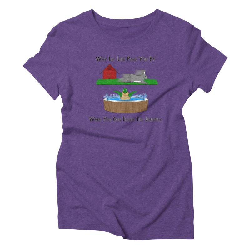 It's About The Journey Women's Triblend T-Shirt by Every Drop's An Idea's Artist Shop