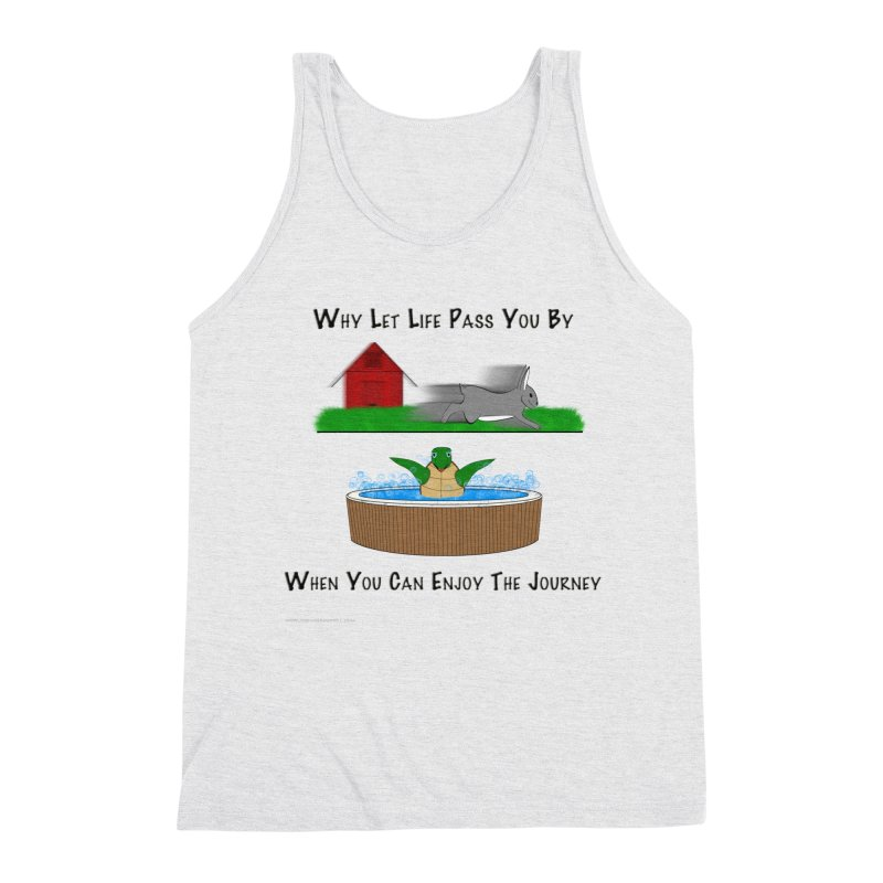It's About The Journey Men's Triblend Tank by Every Drop's An Idea's Artist Shop