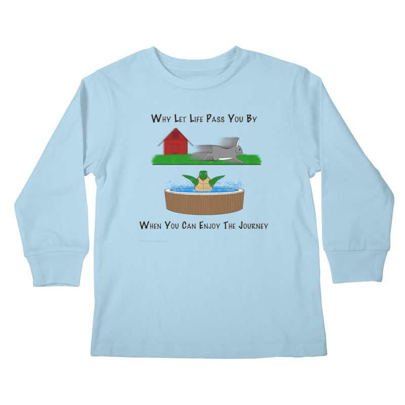 It's About The Journey Kids Longsleeve T-Shirt by Every Drop's An Idea's Artist Shop