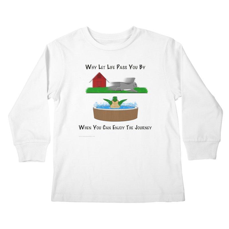 It's About The Journey Kids Longsleeve T-Shirt by Every Drop's An Idea's Artist Shop