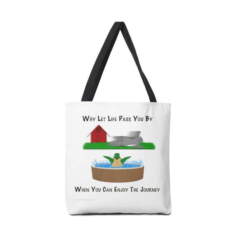 It's About The Journey Accessories Tote Bag Bag by Every Drop's An Idea's Artist Shop