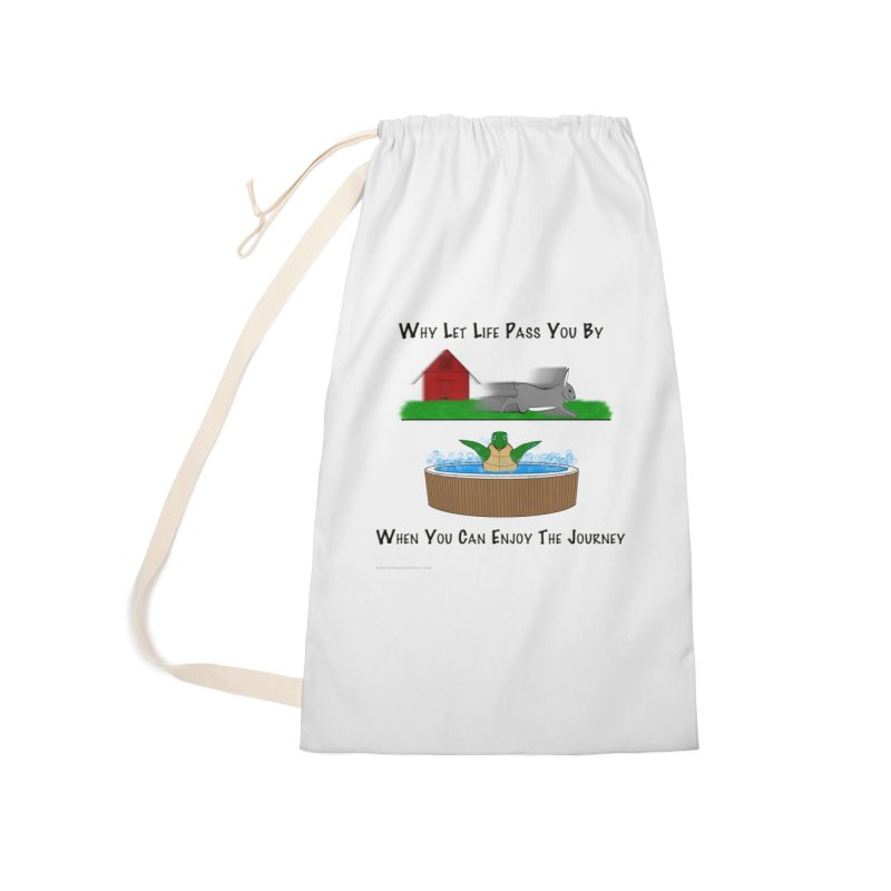 It's About The Journey Accessories Laundry Bag Bag by Every Drop's An Idea's Artist Shop
