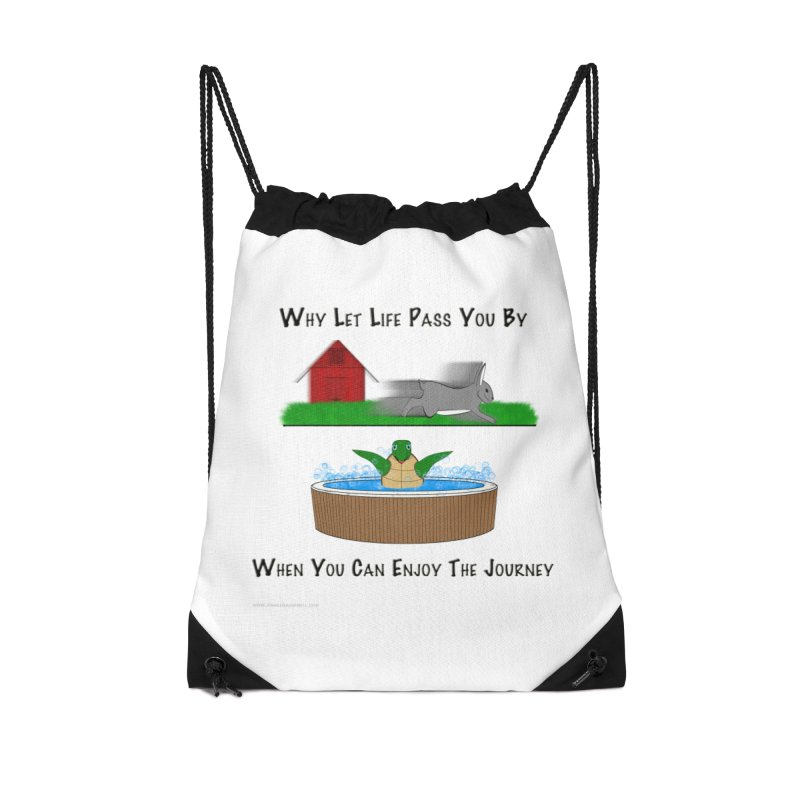 It's About The Journey Accessories Drawstring Bag Bag by Every Drop's An Idea's Artist Shop