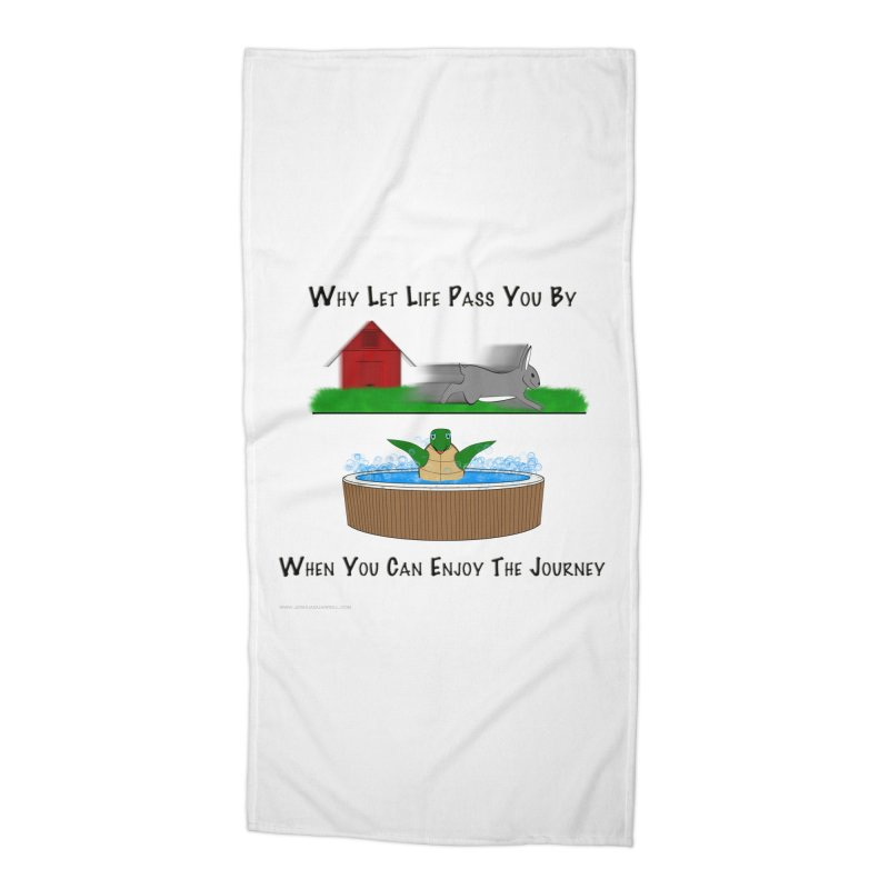 It's About The Journey Accessories Beach Towel by Every Drop's An Idea's Artist Shop