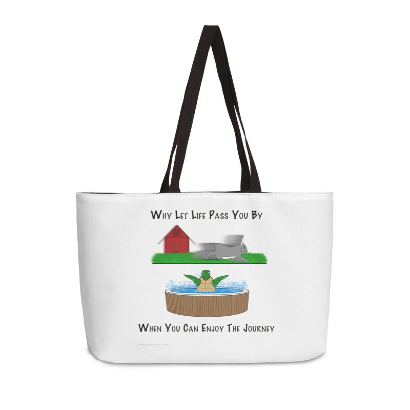 It's About The Journey Accessories Weekender Bag Bag by Every Drop's An Idea's Artist Shop