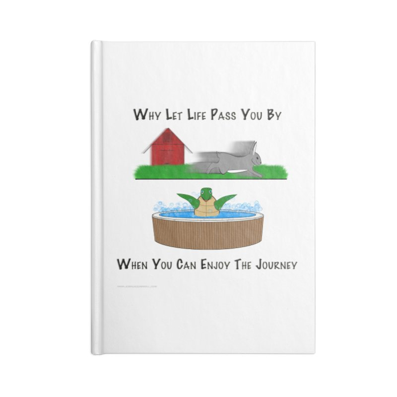 It's About The Journey Accessories Lined Journal Notebook by Every Drop's An Idea's Artist Shop