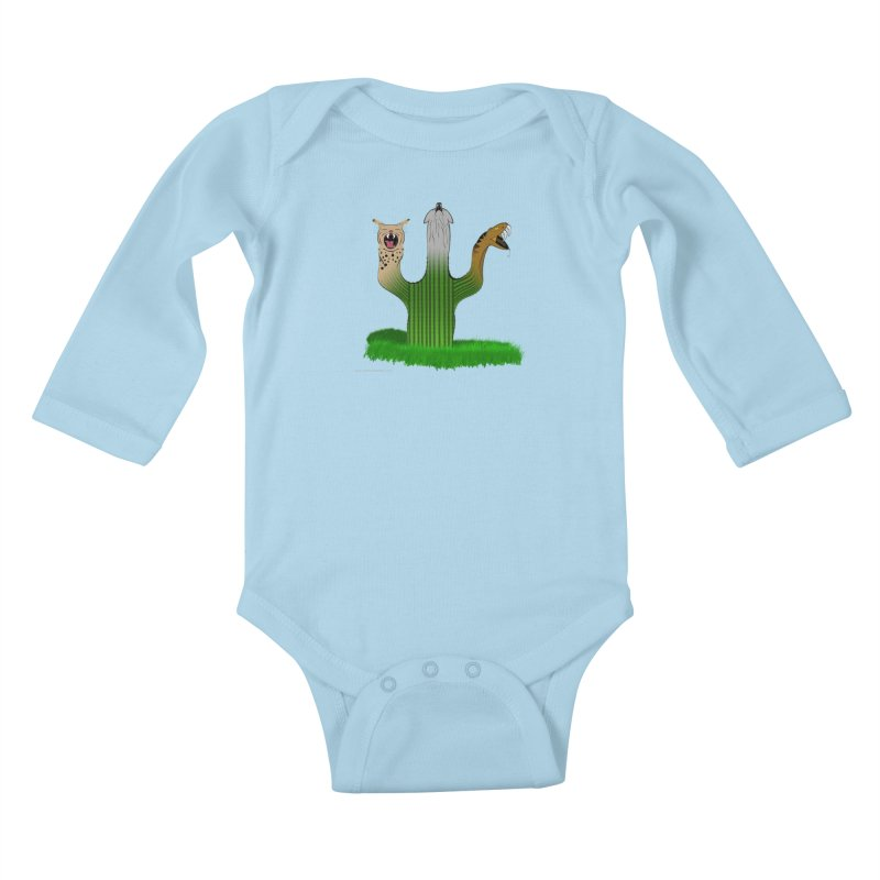 The Life of A Desert Kids Baby Longsleeve Bodysuit by Every Drop's An Idea's Artist Shop
