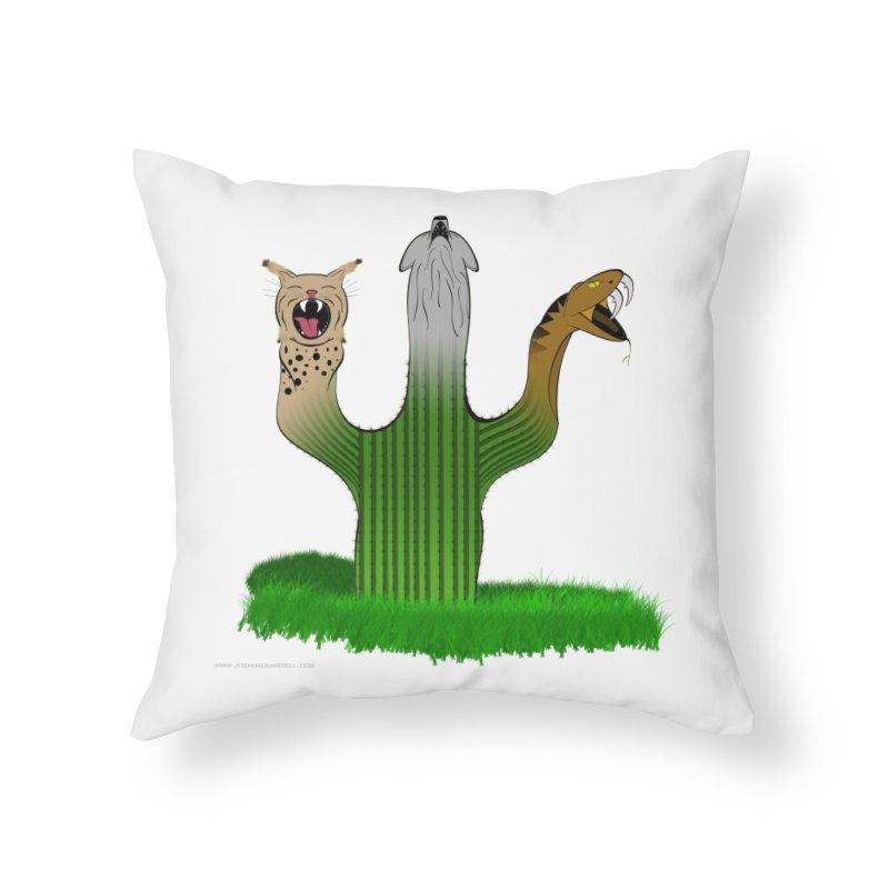 The Life of A Desert Home Throw Pillow by Every Drop's An Idea's Artist Shop