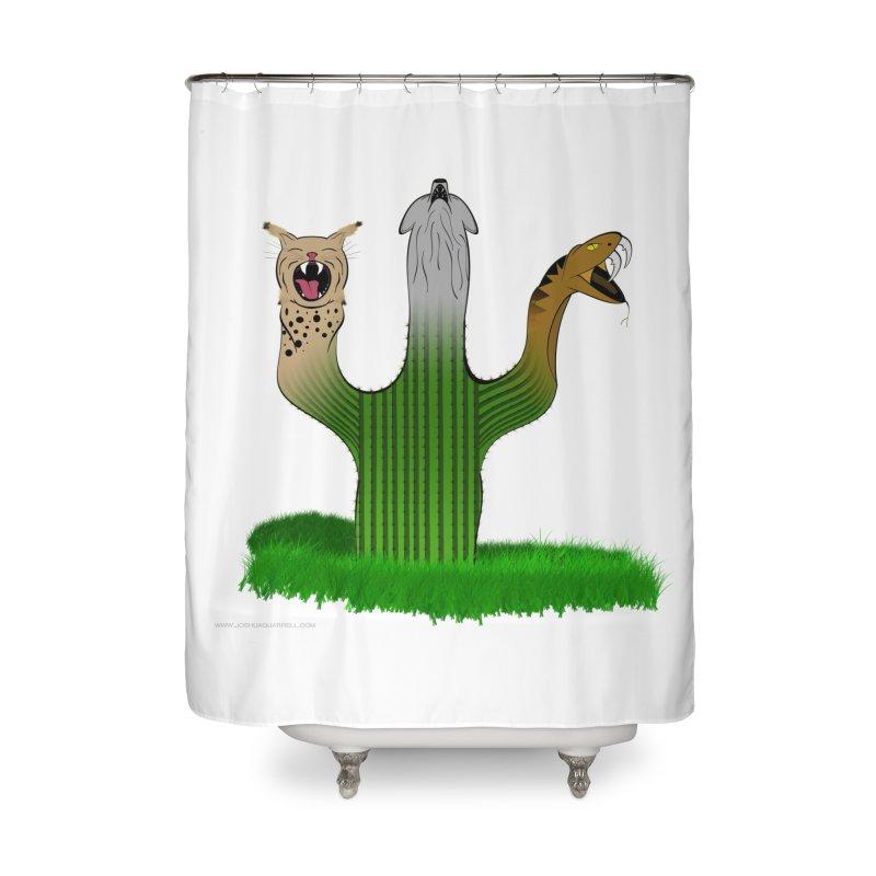 The Life of A Desert Home Shower Curtain by Every Drop's An Idea's Artist Shop
