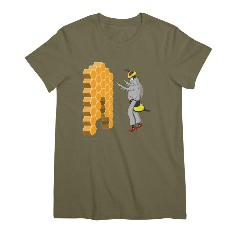 Busy Bee Women's Premium T-Shirt by Every Drop's An Idea's Artist Shop
