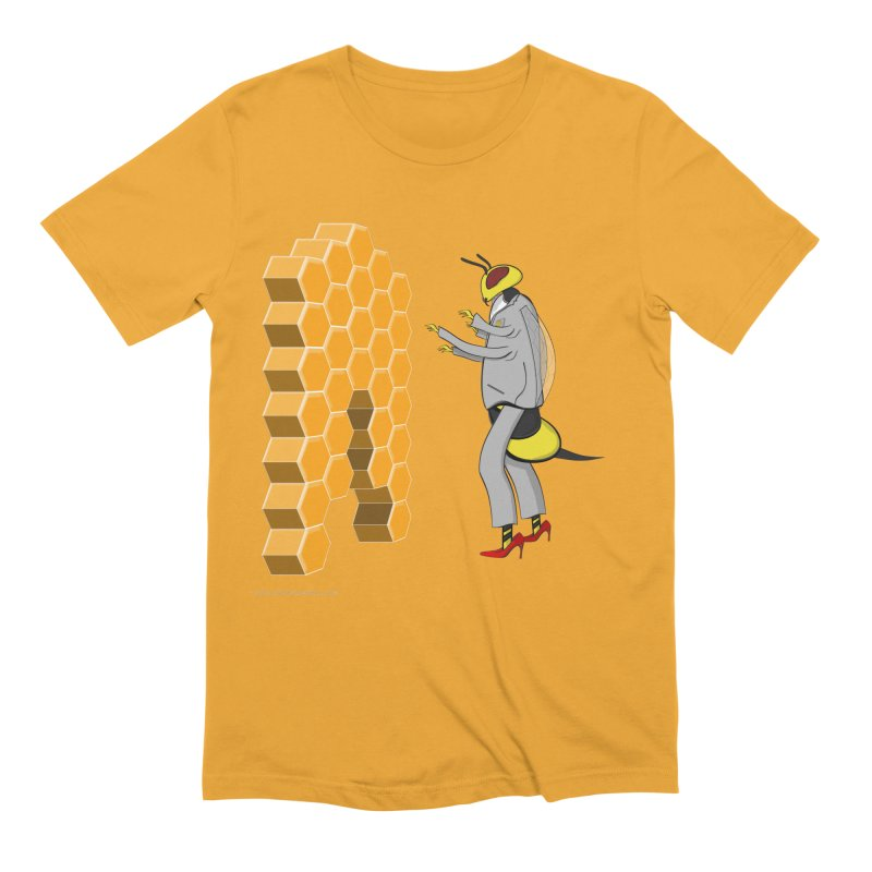 Busy Bee Men's Extra Soft T-Shirt by Every Drop's An Idea's Artist Shop