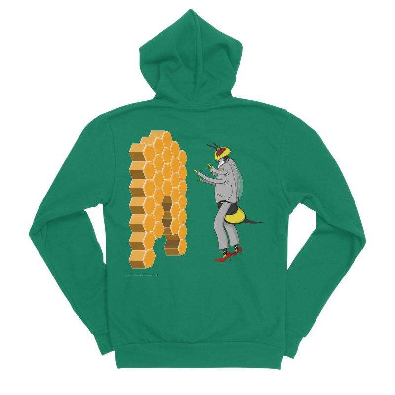 Busy Bee Men's Sponge Fleece Zip-Up Hoody by Every Drop's An Idea's Artist Shop