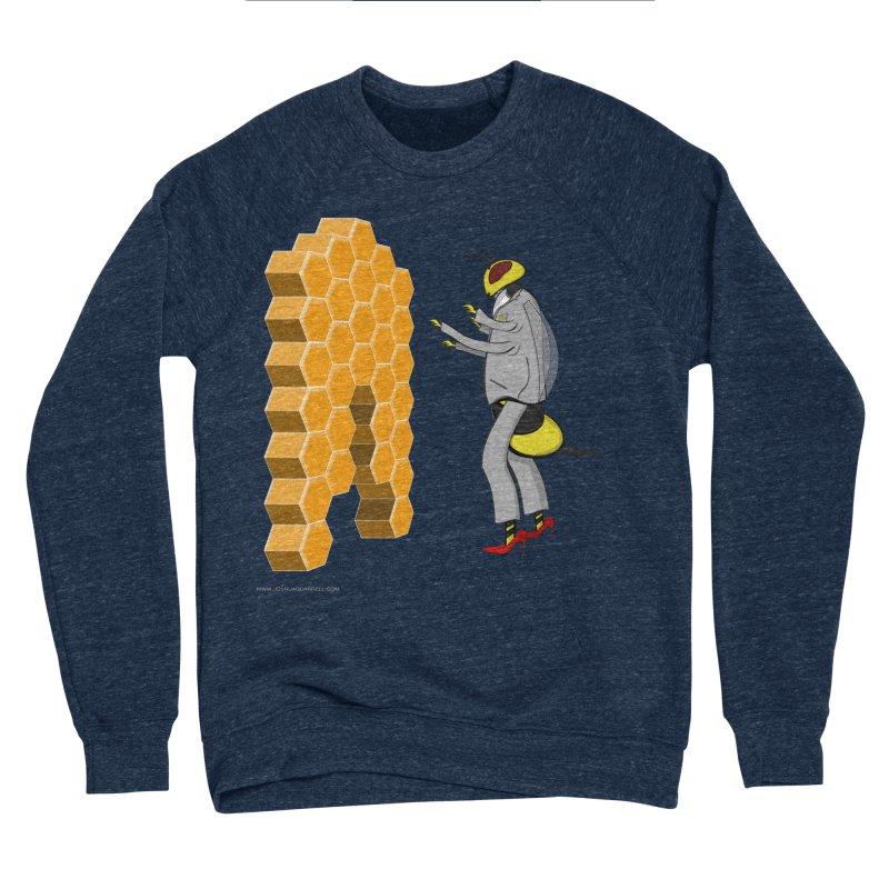 Busy Bee Men's Sponge Fleece Sweatshirt by Every Drop's An Idea's Artist Shop