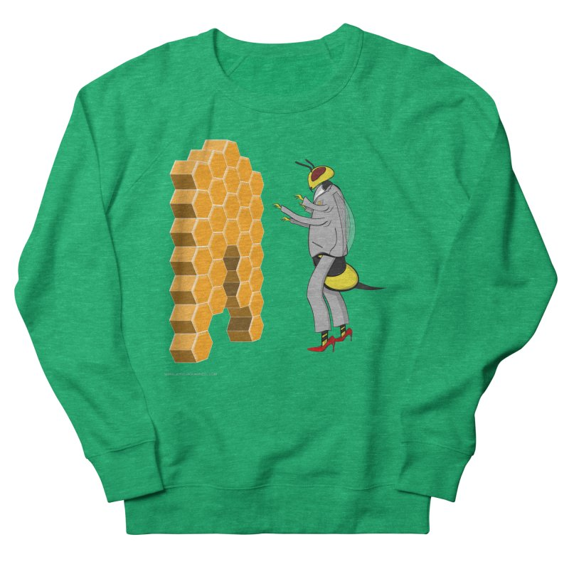 Busy Bee Women's French Terry Sweatshirt by Every Drop's An Idea's Artist Shop
