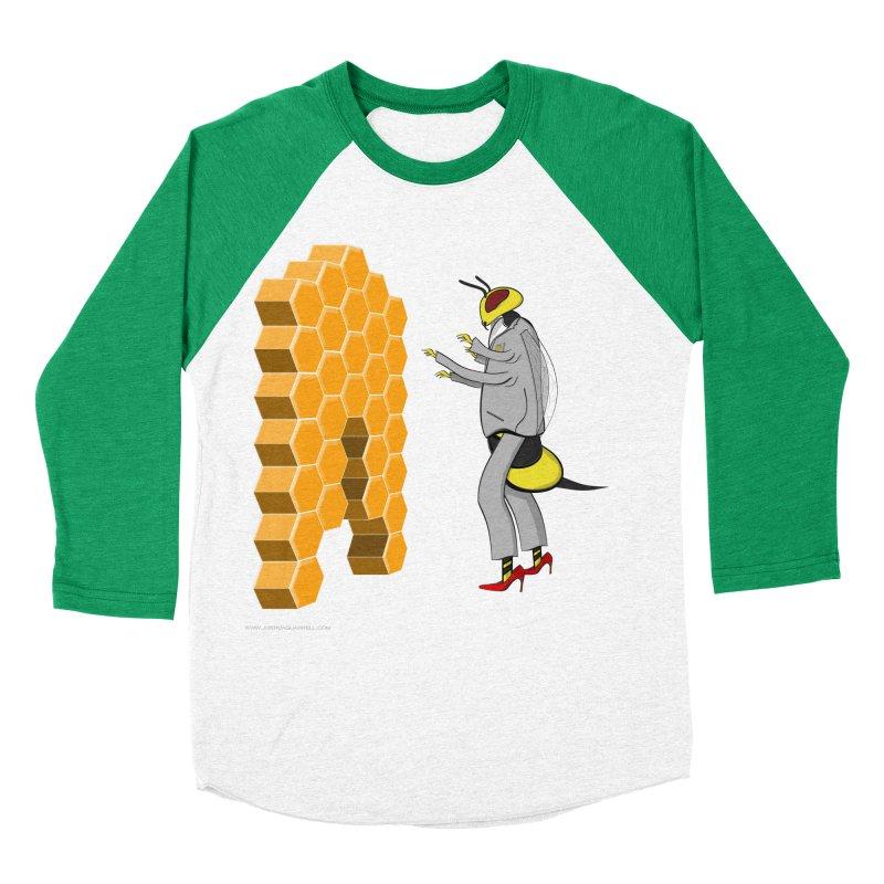 Busy Bee Men's Baseball Triblend Longsleeve T-Shirt by Every Drop's An Idea's Artist Shop