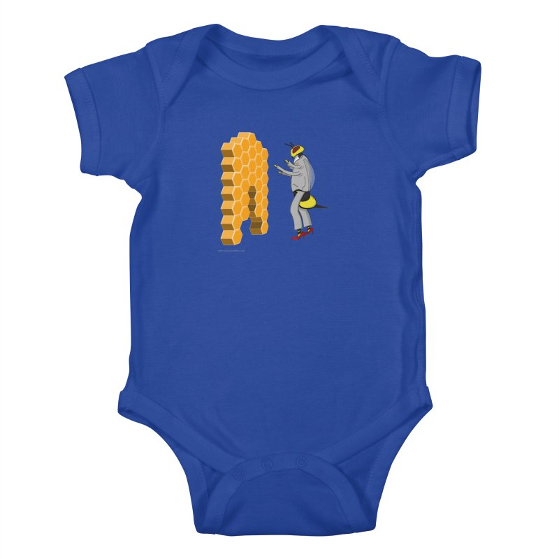 Busy Bee Kids Baby Bodysuit by Every Drop's An Idea's Artist Shop