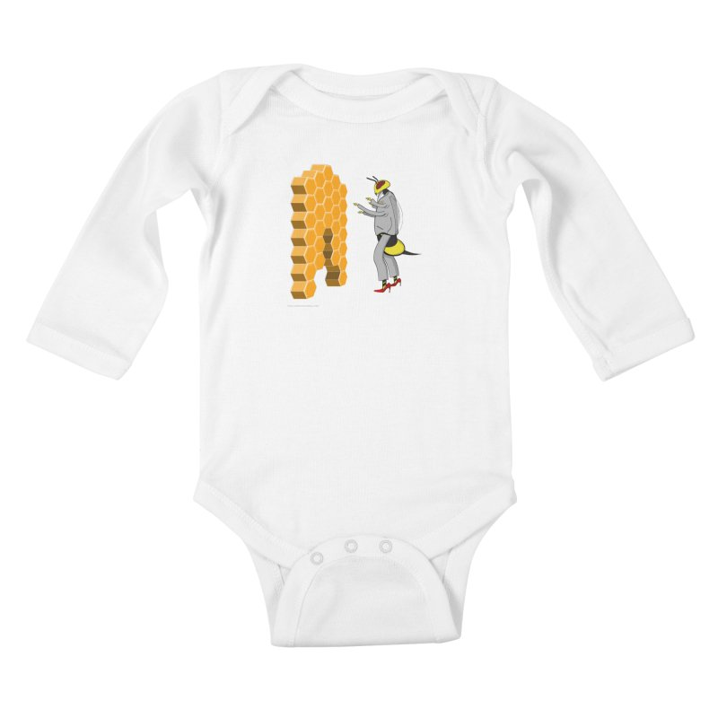 Busy Bee Kids Baby Longsleeve Bodysuit by Every Drop's An Idea's Artist Shop