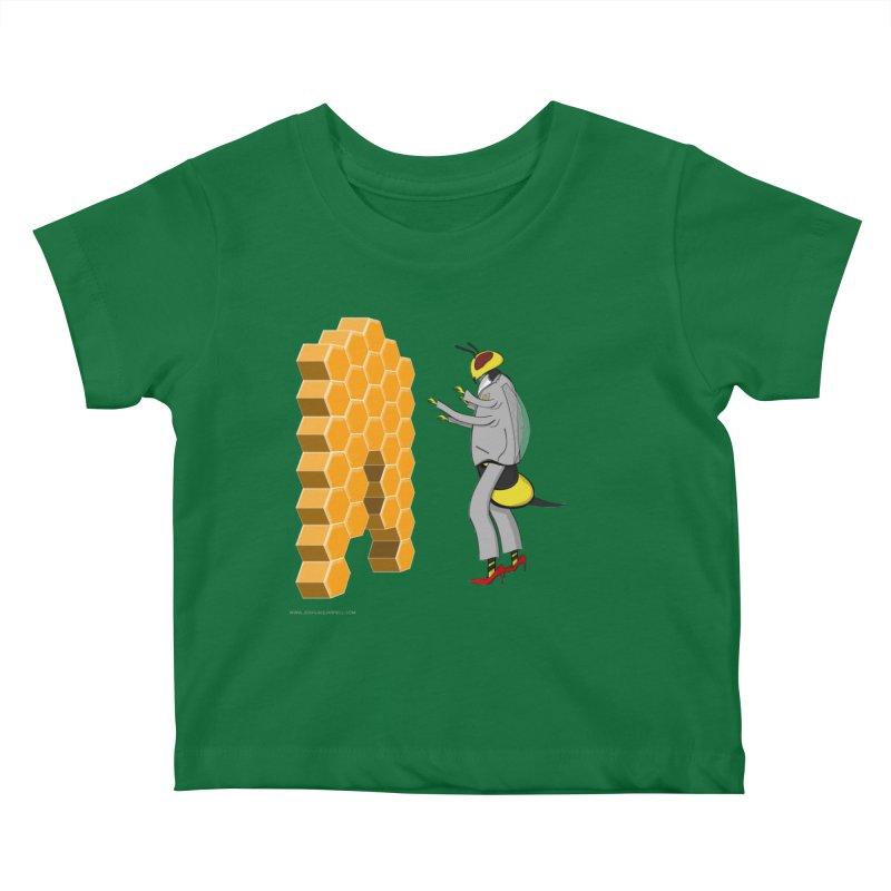 Busy Bee Kids Baby T-Shirt by Every Drop's An Idea's Artist Shop