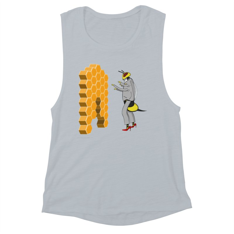 Busy Bee Women's Muscle Tank by Every Drop's An Idea's Artist Shop