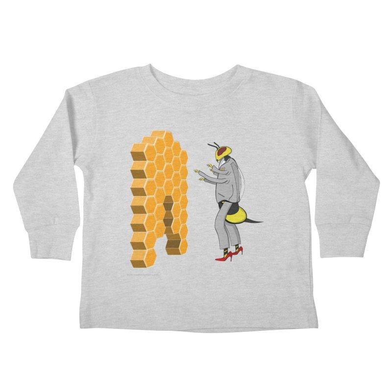 Busy Bee Kids Toddler Longsleeve T-Shirt by Every Drop's An Idea's Artist Shop