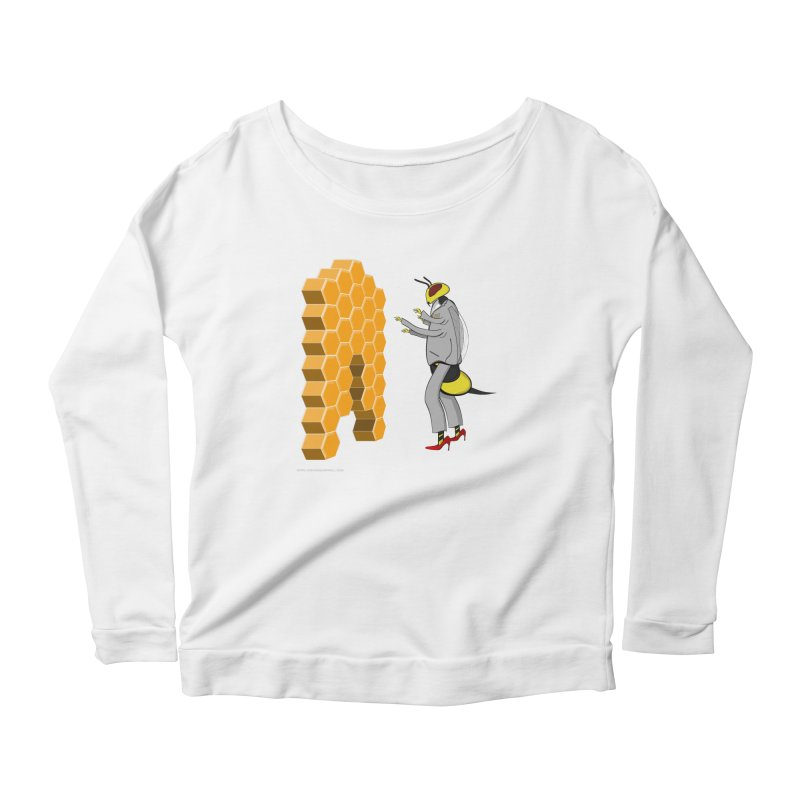 Busy Bee Women's Scoop Neck Longsleeve T-Shirt by Every Drop's An Idea's Artist Shop