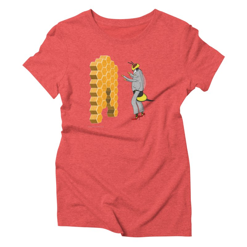Busy Bee Women's Triblend T-Shirt by Every Drop's An Idea's Artist Shop