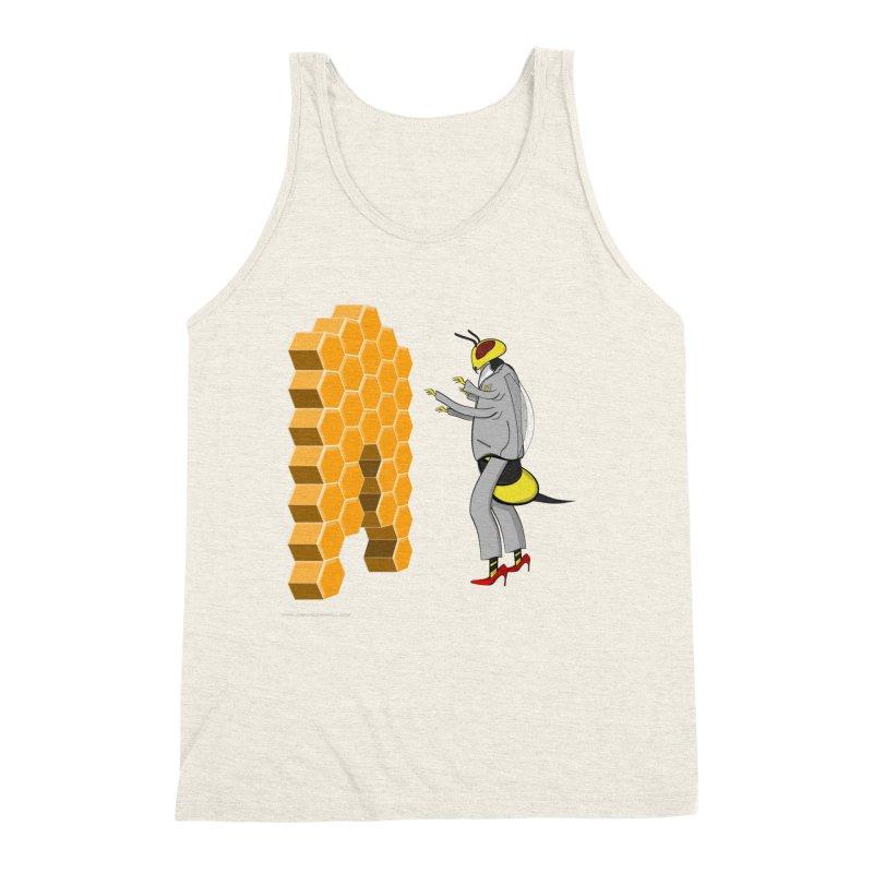 Busy Bee Men's Triblend Tank by Every Drop's An Idea's Artist Shop