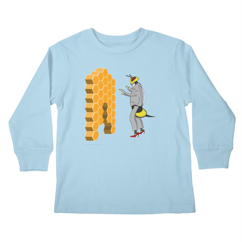 Busy Bee Kids Longsleeve T-Shirt by Every Drop's An Idea's Artist Shop