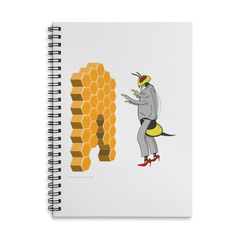 Busy Bee Accessories Lined Spiral Notebook by Every Drop's An Idea's Artist Shop