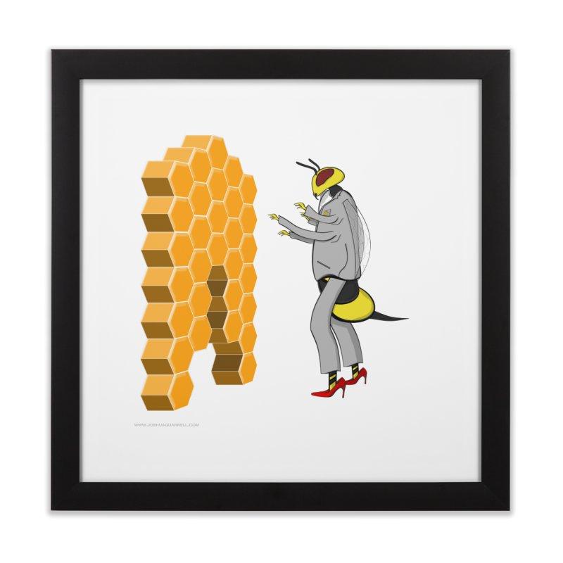Busy Bee Home Framed Fine Art Print by Every Drop's An Idea's Artist Shop