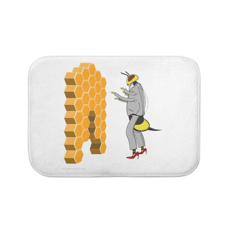 Busy Bee Home Bath Mat by Every Drop's An Idea's Artist Shop