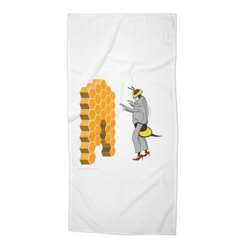 Busy Bee Accessories Beach Towel by Every Drop's An Idea's Artist Shop